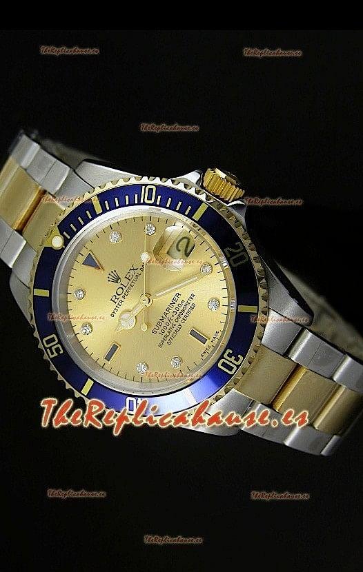 Rolex Submariner, Reloj Réplica Suiza, Dial en Oro - Réplica en escala 1:1