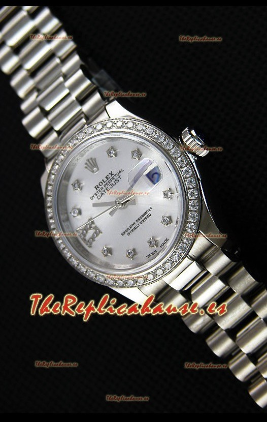 Rolex Datejust Ladies Star Diamonds Markers Reloj Suizo Réplica a Espejo 1:1 Movimiento CAL.2236