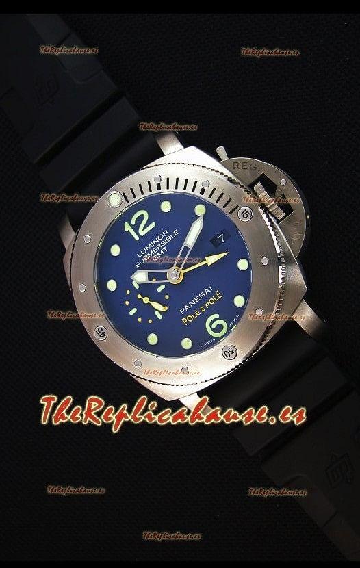Panerai Luminor Submersible GMT PAM719 Pole 2 Pole Edition Reloj Replica a Espejo 1:1
