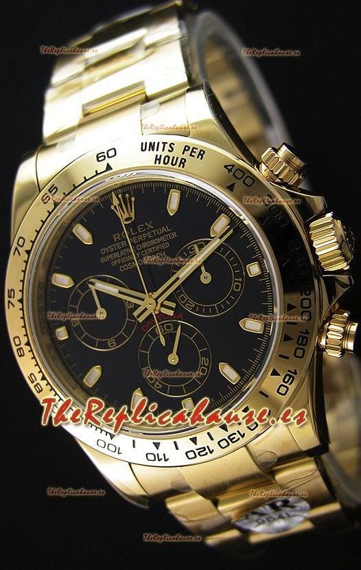 Rolex Cosmograph Daytona 116528 Movimiento Original Cal.4130 - Reloj de Acero 904L Mejorado y Actualizado Oro Amarillo