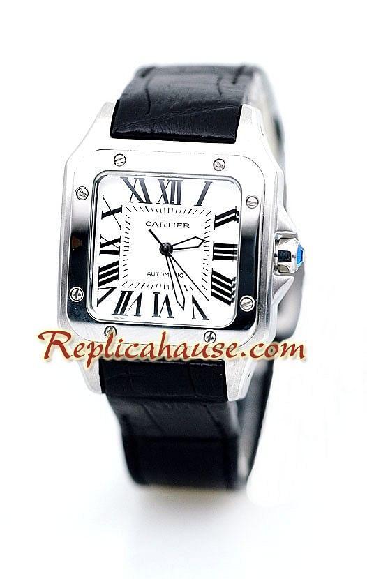 a5dafcae6367 Cartier Réplica Santos 100 Reloj para Dama RHSP856 para  199