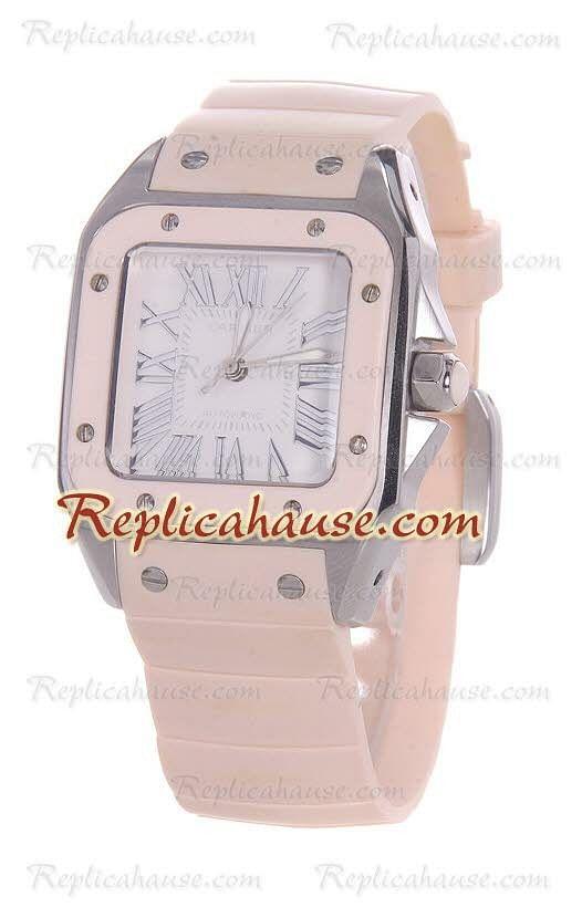 ddd384b7bc41 Cartier Santos 100 Reloj Suizo de imitación Dama RHSP919 para  689