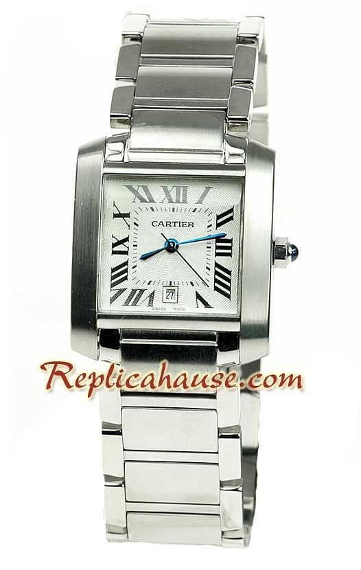 f07aaf4d6414 Cartier Tank Reloj para hombre Suizo de imitación RHSP1006 para  529