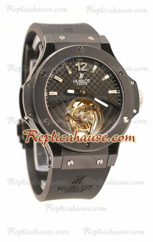 f98b7c2b728e Hublot Big Bang Tourbillon Solo Bang Reloj Suizo de imitación ...
