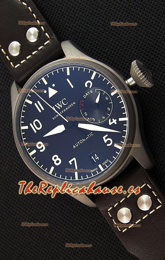 Heritage Indicadora 1 Reserva Big A Pilot's Espejo Iwc Réplica De Titanio 1 Reloj Iw501004 Energía Suizo Función En OXkZuTPi