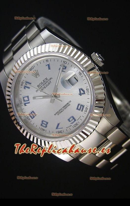 f44026f94a29 Rolex Datejust II 41MM Reloj Replica Suizo con Movimiento Cal.3136  Numerales en Numeros Arabigos