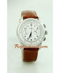 A. Lange Sohne Suizo 1815 Flyback Cronógrafo Reloj