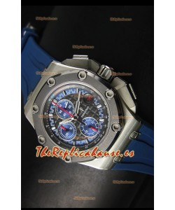 Audemars Piguet Royal Oak Offshore Relo Michael Schumacher en Titanio Color Azul - Última 1:1 Movimiento 3126