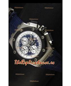 Audemars Piguet Royal Oak Offshore Rubens Barrichello en Titanio Réplica Espejo 1:1 Color Azul
