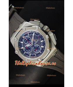 Audemars Piguet Royal Oak Offshore Michael Schumacher Reloj color Gris con Movimiento de Cuarzo