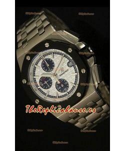 Audemars Piguet Royal Oak Offshore Reloj con Dial Blanco - Caja de Acero
