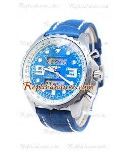 Breitling Airwolf Raven Reloj Japonés in Dial Azul