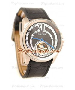 Calibre de Cartier Flying Tourbillon Reloj Réplica
