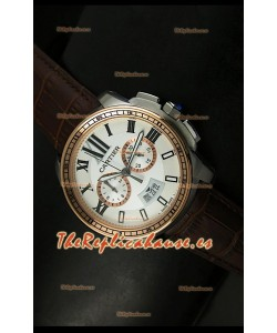 Calibre De Cartier, Reloj cronógrafo Réplica Japonesa, en dos tonos