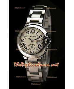 Ballon De Cartier Reloj para Señoras de Acero Inoxidable