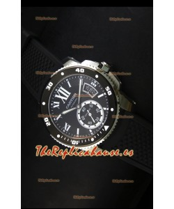 Calibre De Cartier Reloj con Caja de Acero 42MM Dial Negro -  Reloj Réplica Espejo 1:1