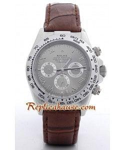 Rolex Réplica Daytona Reloj con correa de cuero