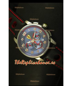 Scuderia Ferrari Heritage Reloj Cronógrafo Dial Azul