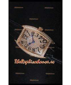 Franck Muller Master of Complications Ladies Reloj con Caja en Oro Rosado