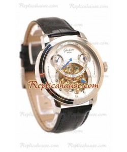 Glashutte Panaomatic Regulator Tourbillon Reloj Réplica