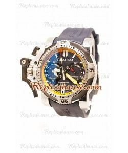 Réplica Graham Chronofighter Overtamaño Diver Reloj Suizo
