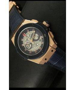 Hublot Big Bang King Reloj de Cuarzo Suizo en Oro Rosado Dial tipo Skeleton 45MM