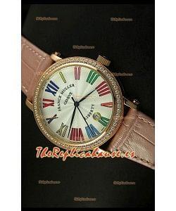 Franck Muller Master of Complications Liberty, Reloj Japonés, correa rosada