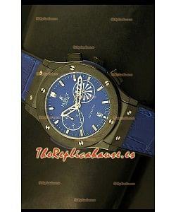 Hublot Classic Fusion Chrono, Reloj Réplica Japonés en Cuarzo, Dial en Azul