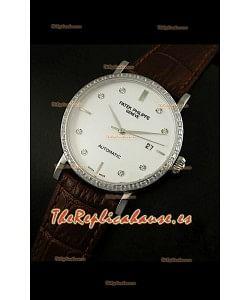 Patek Philippe Calatrava 5298 Reloj Réplica Suiza en Acero - Horas en Diamantes