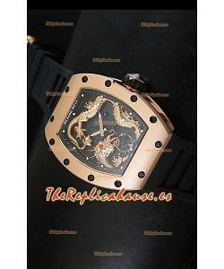 Richard Mille RM057 Tourbillon Jackie Chan Reloj Réplica Suiza en Oro Rosado