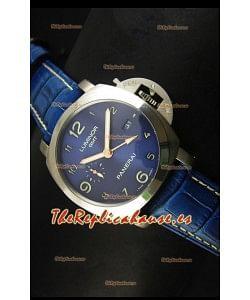 Panerai Luminor Marina GMT PAM437L Reloj Suizo de Titanio - Réplica Espejo 1:1