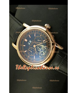 Patek Philippe Complications Tourbillon, Reloj Réplica Japonesa color Oro Rosado