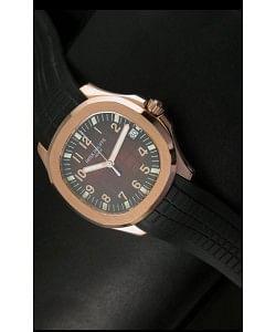 Patek Philippe Aquanaut Reloj en Oro Rosado Dial en color Marrón - Réplica a escala 1:1