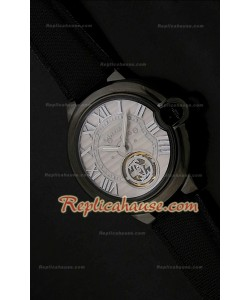 Ballon De Cartier Tourbilon Reloj Japonés en Carcasa de PVD