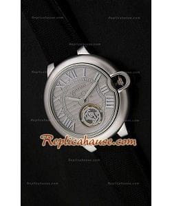 Ballon De Cartier Tourbilon Reloj Japonés en carcasa de Acero