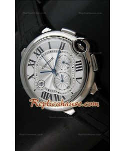 Ballon De Cartier Reproducción Reloj Suizo   - Automático de 42MM con Esfera Blanca