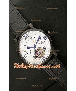 Cartier Calibre Tourbilon Reloj Japonés con Esfera Blanca