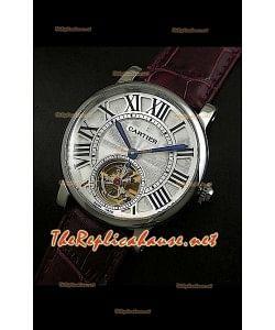 Réplica japonesa de reloj turbillón Cartier Calibre