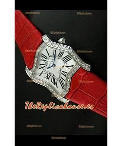 Cartier Tank Folle para damas Réplica en malla roja