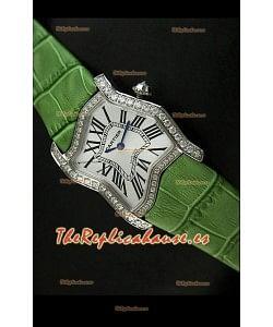 Cartier Tank Folle para damas Réplica en malla verde