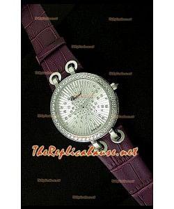 Chopard Xtraveganza Reloj para Señoras con Diamantes incrustados en carcasa Correa Púrpurea
