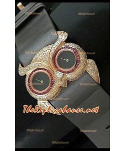 Chopard Animal World Reloj Señoras Búho en Oro Rosa Esfera Gris