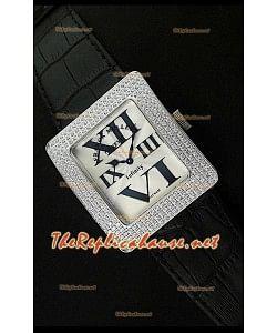Franck Muller enfenity Réplica Reloj Señoras con Diamantes en Bisel
