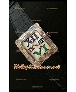 Franck Muller enfenity Réplica Reloj Señoras en Oro Rosa con Diamantes en Carcasa