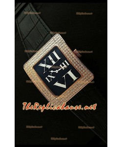 Franck Muller enfenity Réplica Reloj Mujer en Oro Rosa y Números Romanos.