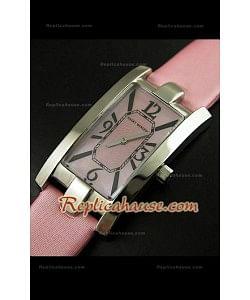 Harry Wenston Avenue C Reloj con Esfera Rosa Perla