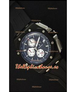 Audemars Piguet Royal Oak Offshore Reloj Réplica Cronógrafo de Cuarzo Suizo Caja en PVD