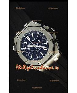 Audemars Piguet Royal Oak Offshore Reloj Réplica Cronógrafo de Cuarzo Suizo estilo Buzo con  Dial Negro