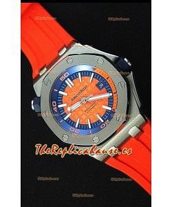 Audemars Piguet Royal Oak Offshore Reloj Réplica Japonés Automático estilo Buzo en color Naranja