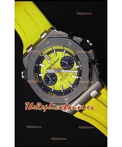 Audemars Piguet Royal Oak Offshore Reloj Réplica de Cuarzo Suizo estilo Buzo en color Amarillo
